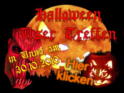 Halloween 2010 am 30.10.2010 in Unna - Jetzt anmelden.